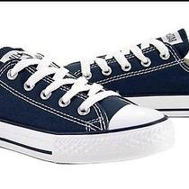 Converse All Star Low Top  Size 2 Youth Navy Blue Photo