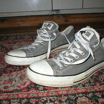 Converse All Star Low Top Skater Chucks Size 10 Gray Photo