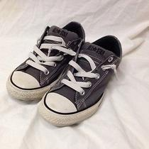 Converse All Star Low Top Sneakers - Gray - Size 4 Junior Photo