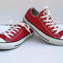 Converse All Star Low Top Wms 7 Men's 5 Red  Euc Photo