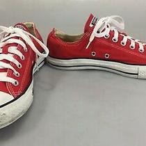 Converse All Star Men 9 Women 11 Eu 42.5 Red Low Rise Gym Shoes Kicks Sneakers Photo
