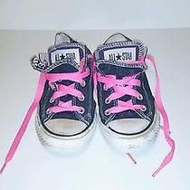 Converse All Star  Original Athletic Sneakers Black/pink Womens Size 6 Photo
