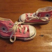 Converse All Star Pink High Top Size 5 Baby Girl/toddler Great Condition Photo