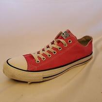 Converse All Star Pink Low Top Lace Up Sneakers Size Womens 11 Mens 9 Photo