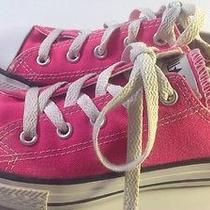 Converse All Star Pink Low Tops Size 1 Photo
