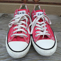 Converse All Star Red Canvas Low Sneakers Men's 10 Photo