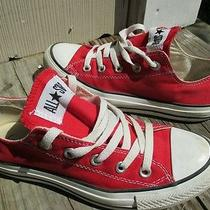 Converse All Star Red Size 4 Low Top Chuck Taylor Photo