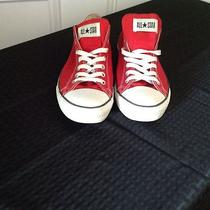 Converse All Star  Red & White Low Tops Trainers Mens 11 Photo