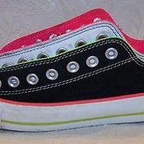 Converse All Star Size 11 Black & Pink Low Top Shoes Photo