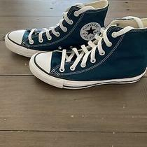 Converse All-Star Size 7 Womans Midnight Turquoise Sneakers Photo