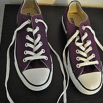 Converse All Star Size 7 Women's Shoes Purple Low Tops Photo