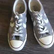 Converse All Star Sneakers Size 5 1/2 Grey White Photo