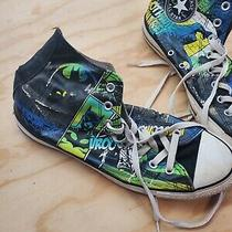 Converse All Star the  Batman Gotham Dc Comics Men 9.5  Shoes Z6 Worn Photo