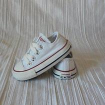 Converse All Star Toddler Canvas Low Tops Size 4  White Photo