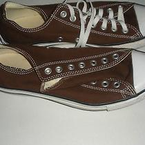 Converse All Star Uni-Sex Brown Classic Canvas Low Top Sneakers Sz M 10 W 12 Photo