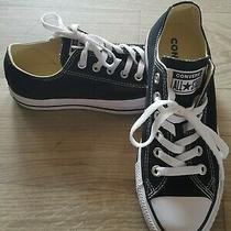 Converse All Star Women's Black and White Athletic Gym Shoes - Size 7 Photo