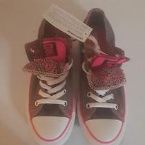 Converse All Star Women's Low Top Pink and Gray Size 8 Photo