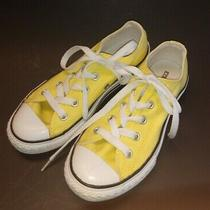 Converse All Star Yellow Child Low Top Sneakers - Size 1 Youth Photo