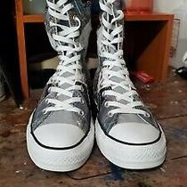 Converse All Star Zip Up Patched Up  Size 7 Woman Size 9 Men Photo