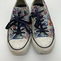 Converse All Stars Blue White Floral Sneakers Size 7 Womens Purple Flowers Shoes Photo