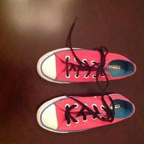 Converse All Stars Fuchsia Low Tops Womens 6 Photo