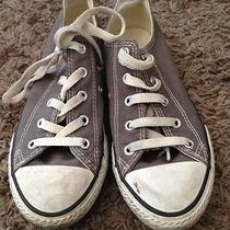 Converse All Stars Low Top Gray Sneakers Youth Size 2 Photo