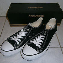 Converse All Stars Ox Black Low Cut Low Top Shoes Sz 10 Us  Photo
