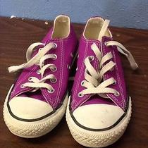 Converse All-Stars Size 12 Girls Shoes. Purple Low Top Photo