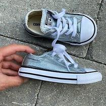 Converse Baby Girl Sz 7 Shimmer Metallic Shoes Photo