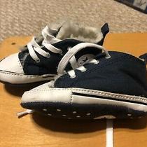 Converse Baby Shoes Size 4 Navy Blue Soft Cotton Shoes Super Nice Photo