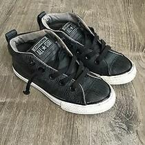 Converse Black Gray Youth Size 13 Lace Up Sneakers 659168f Junior Photo