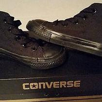 Converse Black High Top Converse Infant Size 7 Black Infant Photo