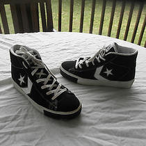 Converse Black High Top Sneakers - Very Cool Mens Size 6 Photo