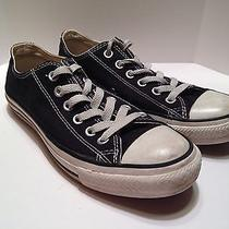 Converse Black Low Top Shoes Womens Size 7 Mens Size 5 Chuck Taylor All Star Photo