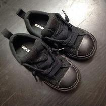 Converse Black on Black Size 10c Photo