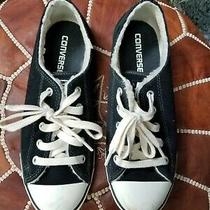 Converse Black Suede Sneakers W/faux Fur Lining - Sz 8 Womens Photo