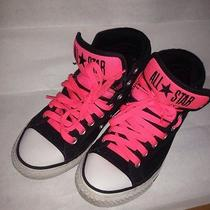 Converse Boys Girls 2 Padded Collar Primo Black Hot Pink Shoes Sneakers Photo