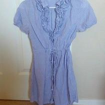 Converse Button Up Purple and White  Dress Small  Photo