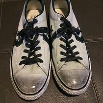 Converse by John Varvatos Casual Shoes Size Mens 13 Leather Blue and White Chuck Photo