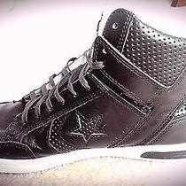 Converse by John Varvatos Jv Weapon Mid Beluga Black Leather (Size 9) Photo