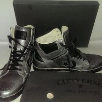 Converse by John Varvatos Star Chuck Weapon Mid Hi Silver Leather 250 Size 9.5 Photo
