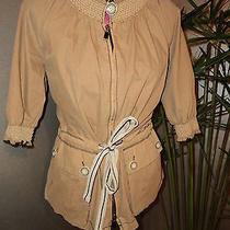 Converse by John Varvatos Women's S/m Cotton Jacket Khaki Worn 2x Mint R175  Photo