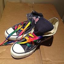 Converse Canvas Sneakers Size 6.5 Blue With Custom Design Photo