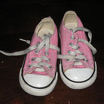 Converse Chuck's Low Tops Pink Size 8 Infants Kids Shoes Photo