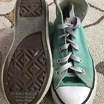 Converse Chuck Taylor All Star Girls High Top Teal Shoes Size 13 Lace Up Photo