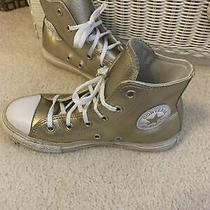 Converse Chuck Taylor All Star Gold High Top Sneakers Lace Up Shoes Youth Size 1 Photo