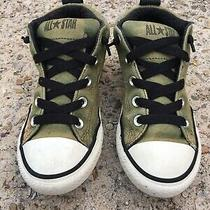Converse Chuck Taylor All Star Hi Field Surplus Army Green Sneaker Shoe Size 2 Photo