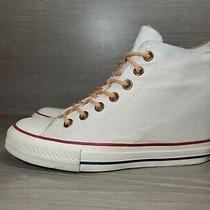 Converse Chuck Taylor All Star Lux Hidden Heel Wedge White Sneaker Womens 8 Photo