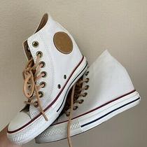 Converse Chuck Taylor Allstar Lux Hidden Heel Wedge Women's Size 6.5 Off White Photo