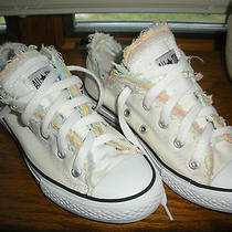Converse Chuck Taylor All Stars Unique Low Cuts Girls Rare Canvas Size 2 1/2  Photo